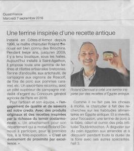 Ouest France Octobre 2016