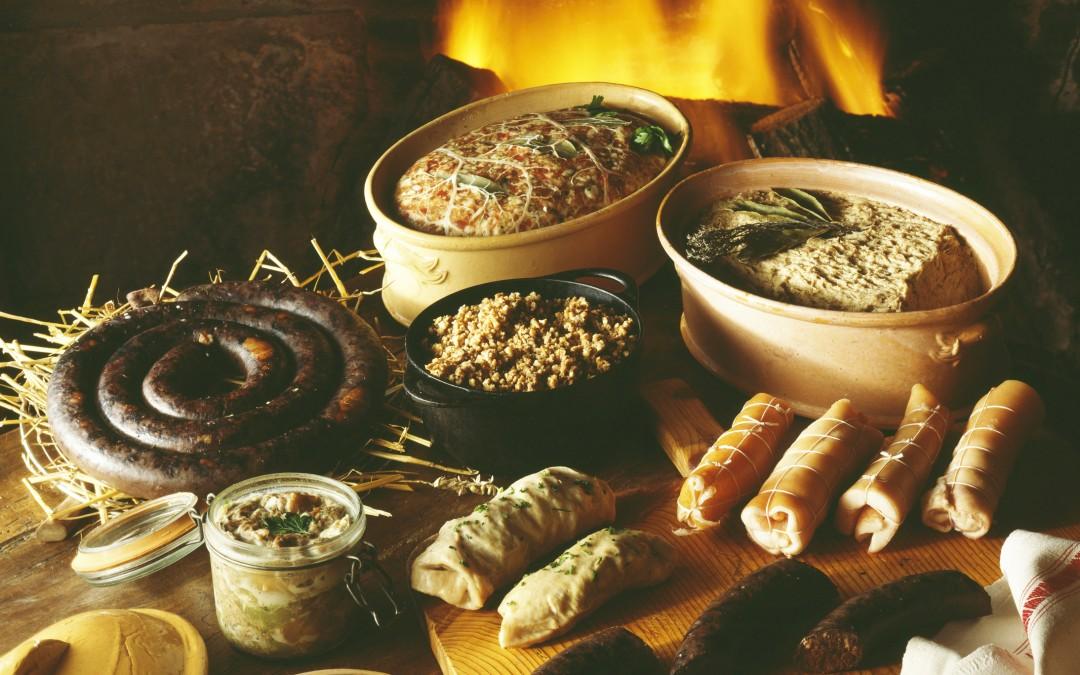 Terrine, pâté et saucisson