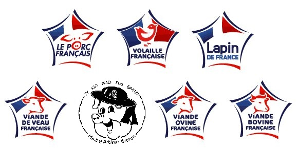 Logos viandes de France et de Bretagne