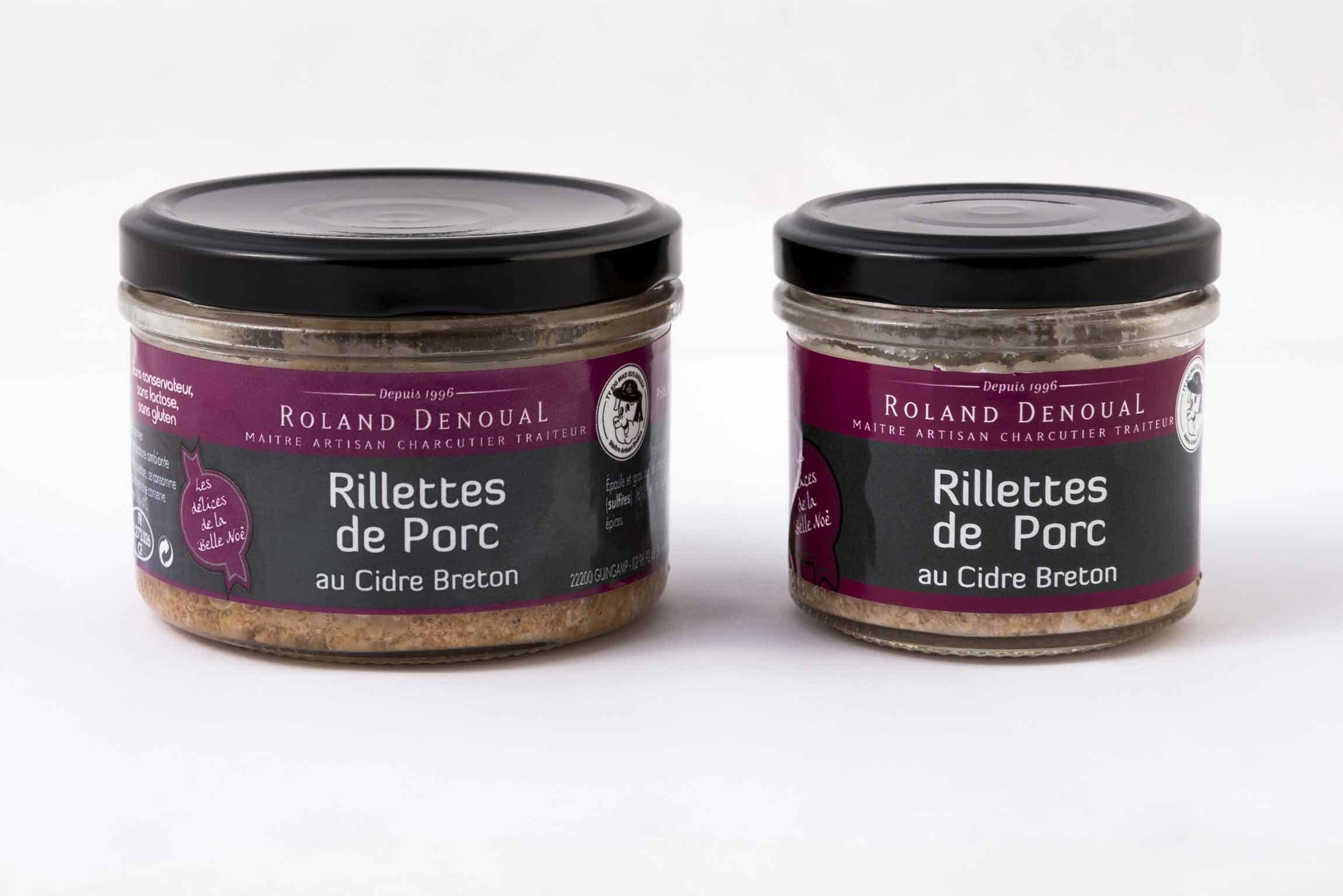 Rillettes de Porc au cidre breton du Maître artisan charcutier traiteur Roland Denoual