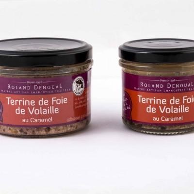 Terrine de foie de volaille au caramel du Maître artisan charcutier traiteur Roland Denoual