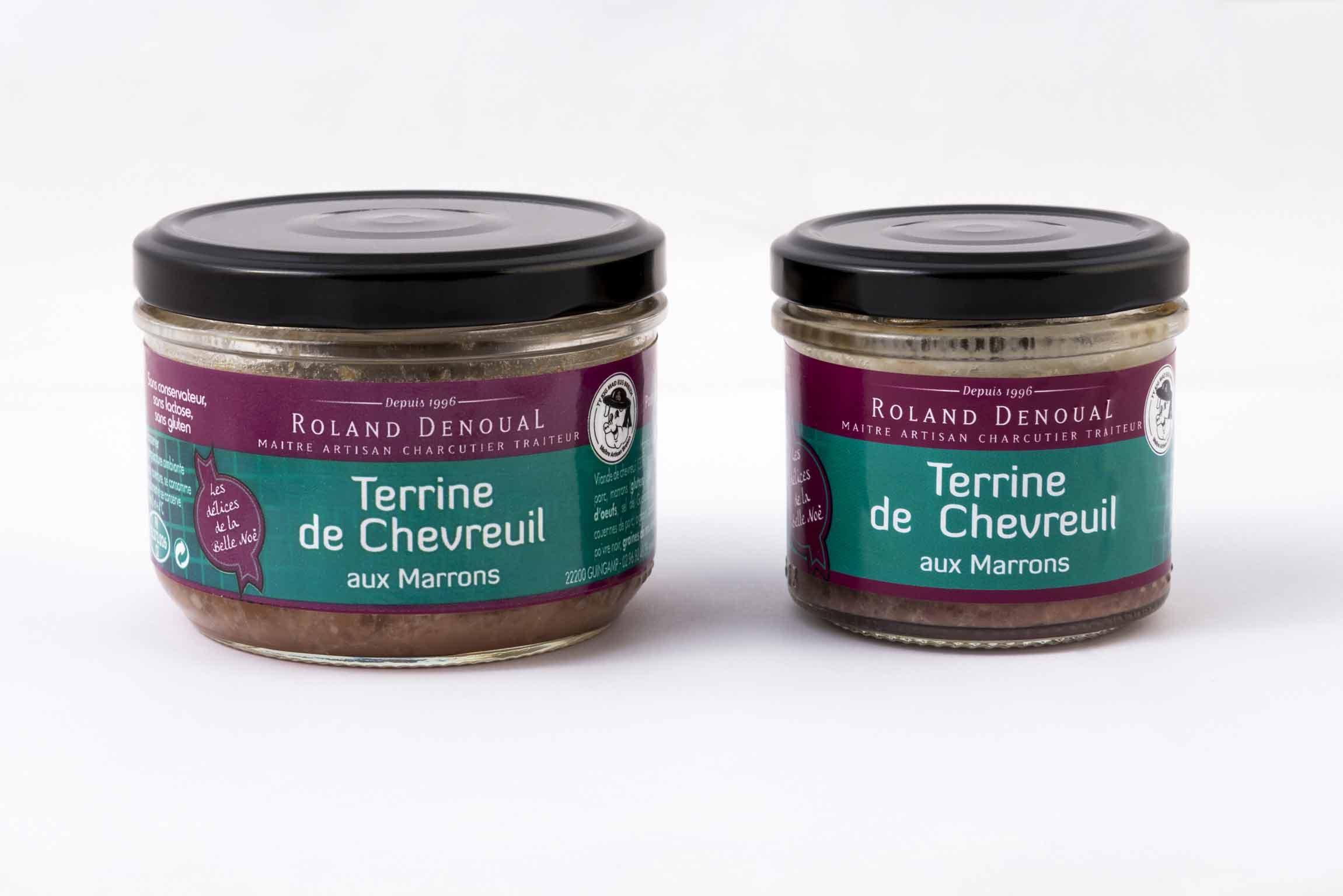 Terrine de Chevreuil aux marrons du Maître artisan charcutier traiteur Roland Denoual