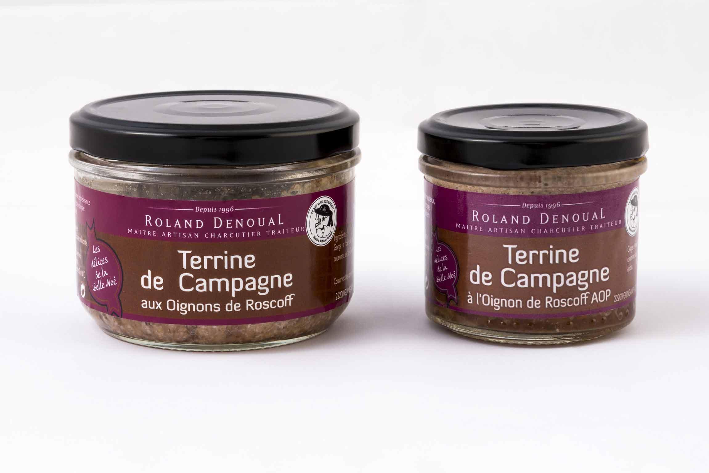 Terrine de Campagne à l'oignon de Roscoff du Maître artisan charcutier traiteur Roland Denoual