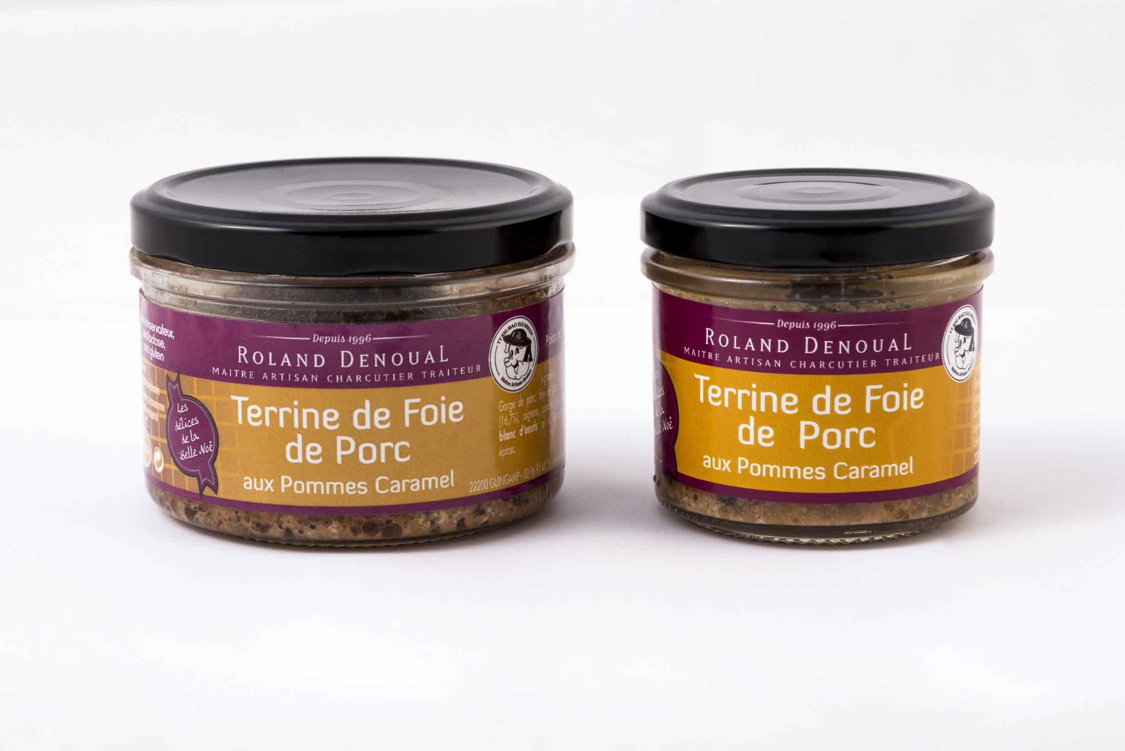 Terrine de foie de porc aux pommes caramel du Maître artisan charcutier traiteur Roland Denoual