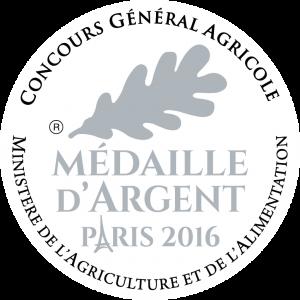 Médaille d'argent Concours Générale Agricole 2016
