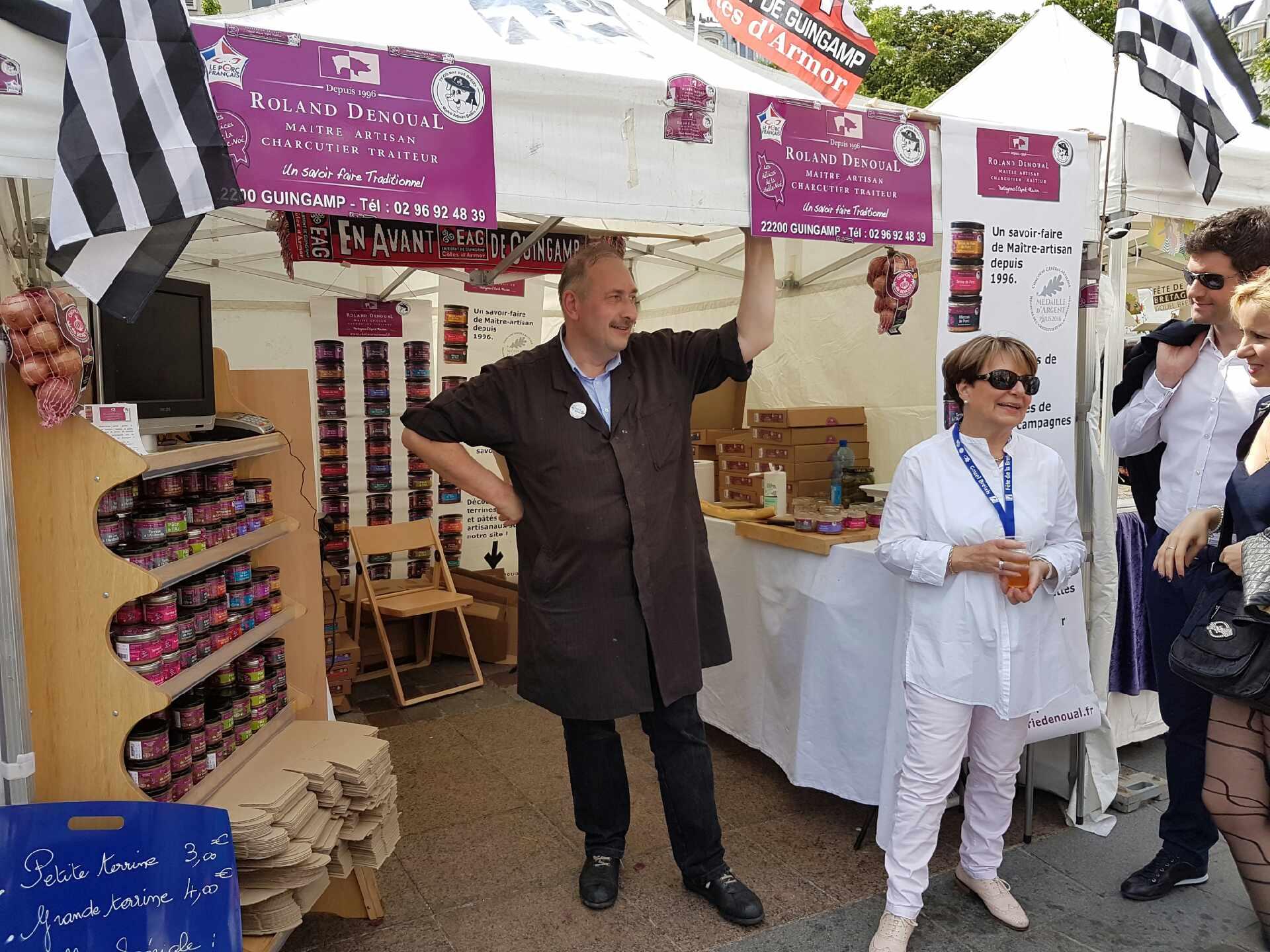 M et Mme Denoual à la Fête de la Bretagne de l'association Paris Breton 2016
