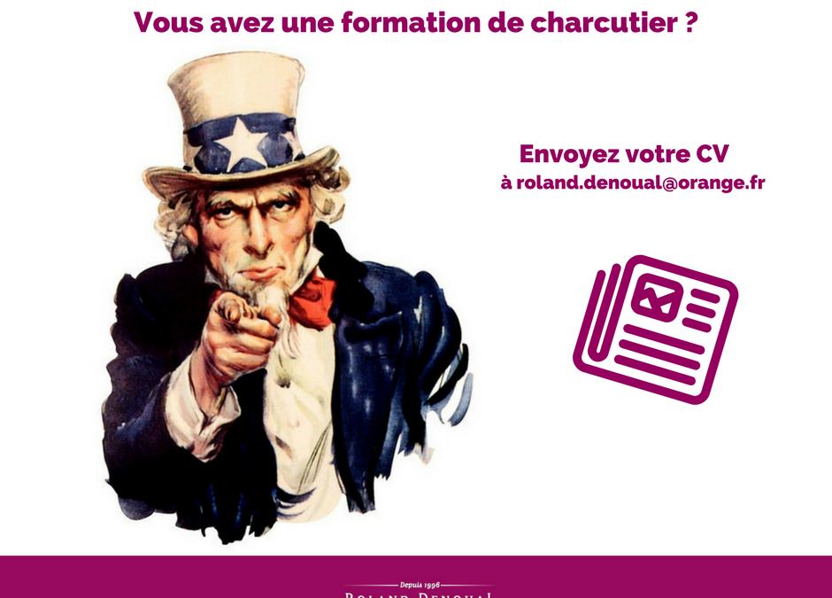 Offre d'emploi – charcutier/charcutière